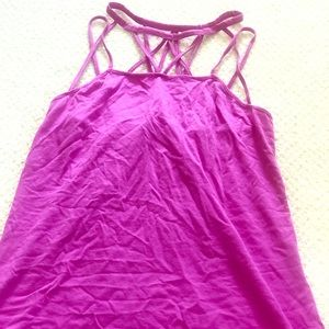 Fabletics pink/purple cotton spaghetti strap tank!